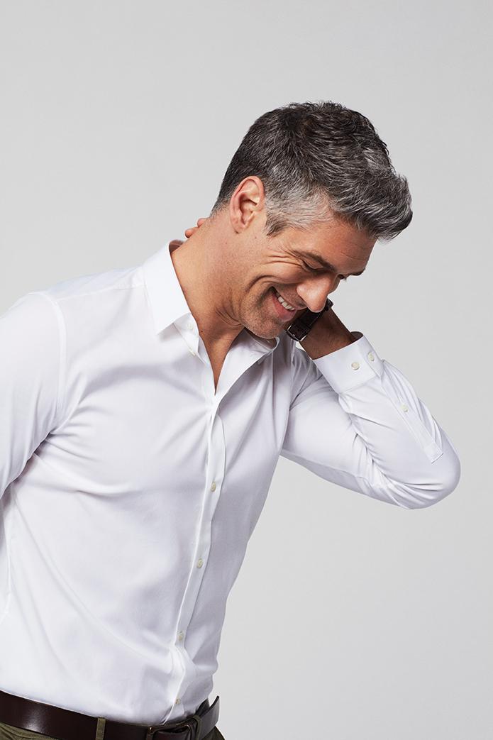Attractive grey-hair man