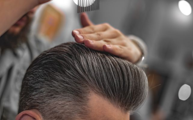 cool men's hair being styled