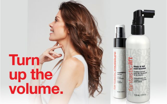 brunette with long hair and FS styling product image