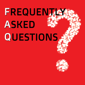 The words Frequently Asked Questions
