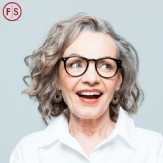 Older women smiling with hair done